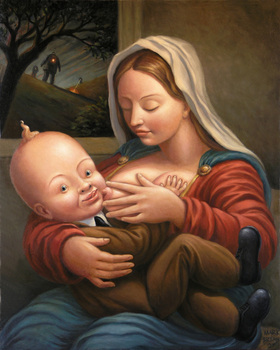 Madonna_and_big_baby__oil_on_canvas__30x24_2007