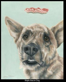 20161022225048-non-cafe_-_suzanne_edmonson_-_maple_bacon_dog_-_oil_and_acrylic_-_16_inches_x_20_inches_-__2000_-_studio_city_ca