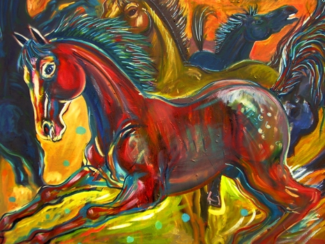 The_red_pony__oil_on_canvas_1_