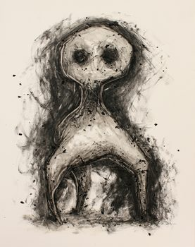 20170116211022-untitled_black_and_white_charcoal_and_resin_drawing_on_paper_of_strange_three_legged_tripod_creature_by_artist_wayne_chisnall