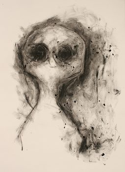20170116211256-untitled_black_and_white_charcoal_and_resin_drawing_on_paper_of_black_eyed_creature_by_artist_wayne_chisnall
