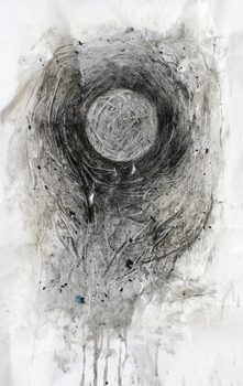 20170116212142-charcoal_and_resin_drawing_of_sinewy_sphere_on_crumpled_and_stapled_archival_quality_paper_by_shropshire_and_london_based_artist_wayne_chisnall__1_