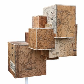 20170116222730-tattooed_tumour_box_illustrated_brown_antique_plywood_box_sculpture_covered_in_bizarre_drawings_of_new_mythical_creatures_by_london_artist_wayne_chisnall
