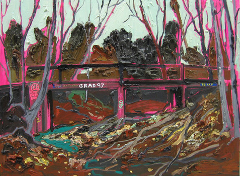 Bridge_-_oil__acrylic_and_ink_on_woods_panel_-_36x48inches_-_2008