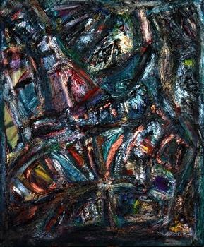 Nikitskiy_boulevard_at_night_50x60_mixed_media_on_canvas_2008