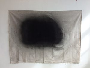 20181019153152-_they_remain_confounded_by_the_fact_that_a_brother_got_over_-_found_dropcloth__archival_glue_and_spray_paint-_70_1_2_x_53_1_2_in-_2018_copy