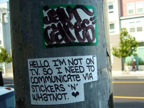 Communicate-stickers-pole
