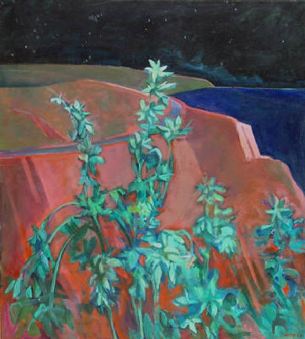 William_theophilus_brown_garden_at_night_1968_385_65