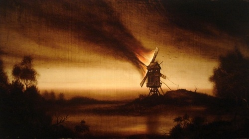 Der_burnin_mill__nokturn___2009__edward_walton_wilcox___17x30_inches___bitumen_on_canvas_-_med