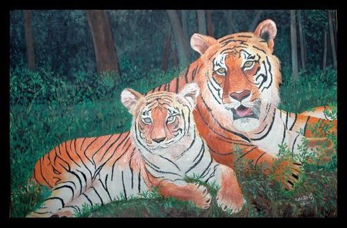 Tigers_mother_and_child_30__x24__