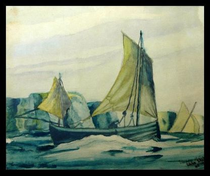 Sailing__water_colour_1962