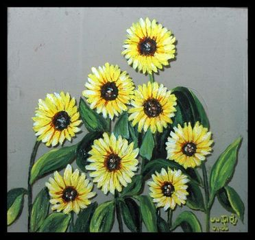 Sunflowers__glass_painting_