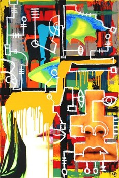 Dixon_orange_lady_mixed_media_2005