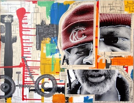 Dixon_man___bicycle_mixed_media_2007