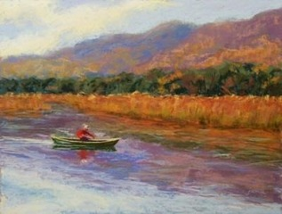 Canoing_the_hudson_16x20_pastel