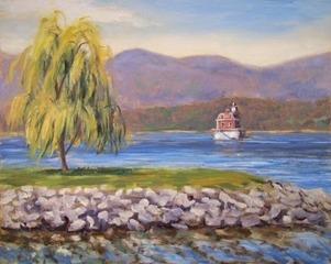 Jamieathens_lighthouse_from_hudson_8x10_oils