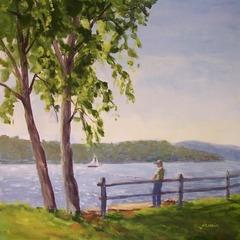 Jamiefishing_on_the_hudson_river_12x12_acrylic
