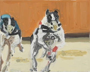 Hunderennen__2024x30cm_20oil_20on_20vanvas__202008__20hanne_20kroll_1_
