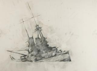 Disengaged_1-_blanton-pencil_wax_enamel_conte_paper-28x36in-2008