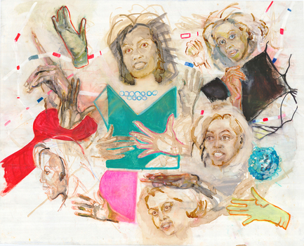 Grazyna_adamska-jarecka_poised_and_playful__mixed_media_on_plastic__48x38__2009