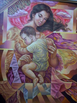 Mother-child-oil-on-canvas-18x24