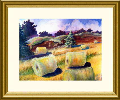Hayfield__gold_frame