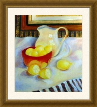 Lemons_and_pitcher_framed_print
