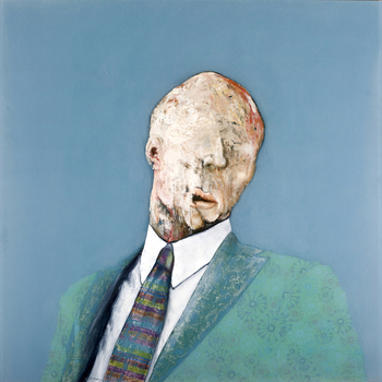 Darios_portrait_48x48_oil_paper_collage_image_trans_over_resin_panel_2009