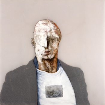 Ramiros_portrait_48x48_oil_paper_collage_image_trans_over_resin_panel_2009