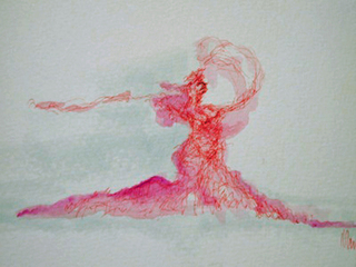 Red_diva_acrylic_wash_and_ink_on_paper_2007