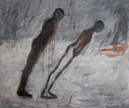 Leaners__78x90__oil_on_canvas__2007