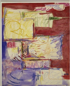 Composition_i__1941__watercolor_and_crayon_on_paper__14x11