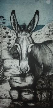 Donkey_at_lagada_etching___aquatint