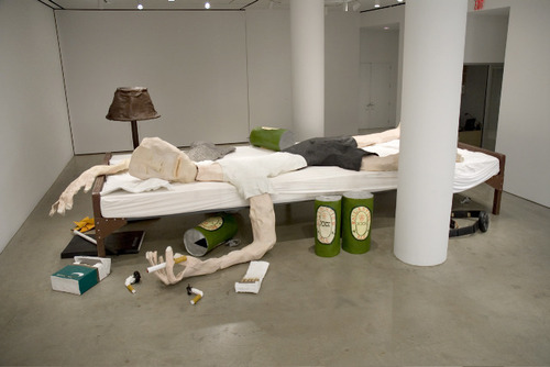 Ryman__the_bed__2007__papier_mache__resin__wire_mesh__acrylic