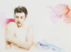 I_can_resist_anything_except_temptation__2009__watercolor_and_pencil_on_paper__24x32_cm