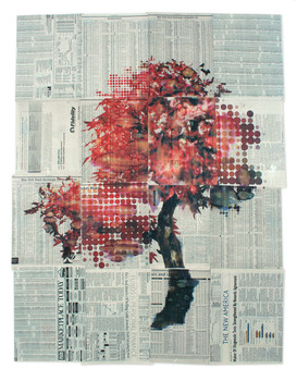 Philliphua_-_dryad_3_-_42x31_-_mixed_media_on_newspaper