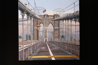 3_walkingthebrooklynbridgeoiloncanvas30x30merrillfrench