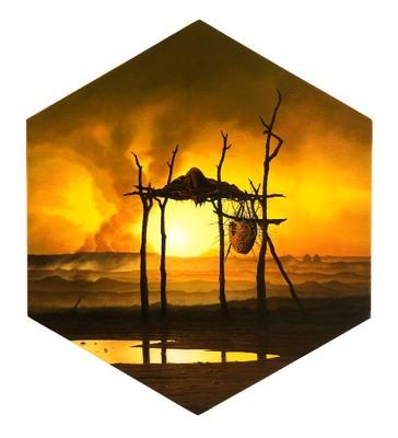 Stark__the_nest_of_putrefaction__oil_on_panel_42x42cm_2009
