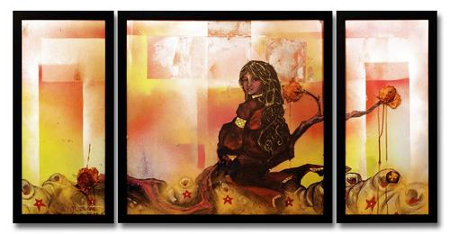 Triptych_with_roses-_gaia_human_element_series_2009_small
