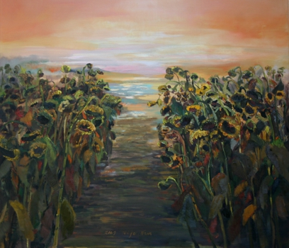 Hijo_nam__sun_flowers_-1__37_x_42_oil_on_cnavas__09