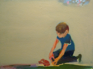 Playing_with_cars_08_oil_canvas_9x12