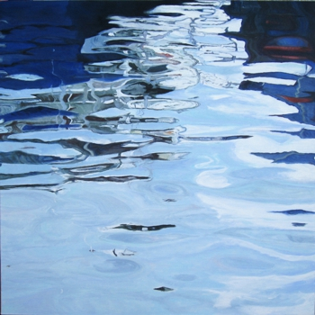 Reflections_from_a_northern_port_i-oil_on_canvas-100x100cm