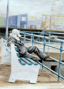 Lyndaanreyes_snoozing_the_pier_-_22x30