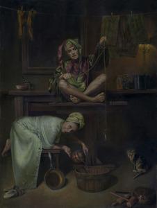 Oleg-radvan_happy-family_50x38_oil-on-canvas_28000