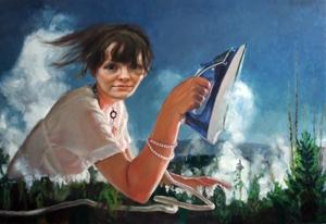 Aerfeldt_ironing_lady_195_x_130cm_2008_e