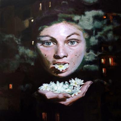 Aerfeldt_moonface_120_x_120_cm_oil_on_linen_2008