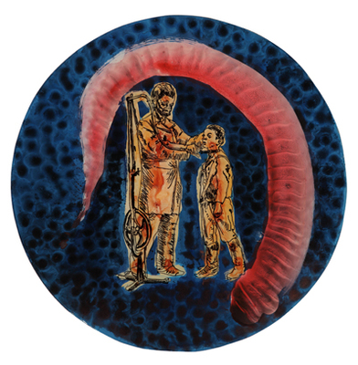 Seeds_of_change_ii_g___2009__acrylic__ink_and_enamel_reverse_painting_on_acrylic_sheet__26cm_diameter