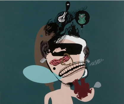 Raghava_k_k___-____the_pink_talkies__-__acrylic_on_canvas_-_62__x74___-_2009