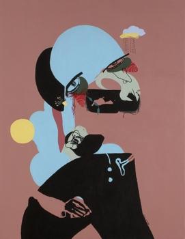 _swaddled_and_sunburnt__-__acrylic_on_canvas_-_41__x32___-_2009