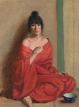 Joan_potter__red_kimono__oil__16_x_12
